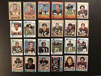 1970 1971 1972 73 74 Topps CLEVELAND Browns BARNES Phipps PRUITT Bo Scott PITTS