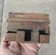 Antique Aladdin Mantle Lamp Copper Match Safe Sign Extra Generator Wick Cleaner