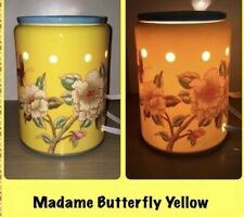 Scentsy MADAME BUTTERFLY YELLOW🦋 Wax Warmer - FLORAL 🦋🌸 RARE~ NEW!