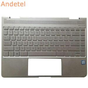 HP Spectre x360 13-w021TU Laptop Palmrest Cover US Keyboard Silver 1A32ESP00600