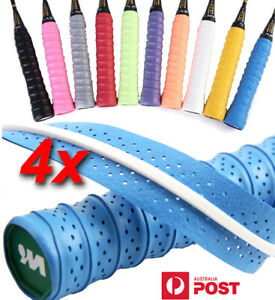 4Pcs Tennis Badminton Overgrip Tape Squash Racket Fishing Rod Over Grip Tape