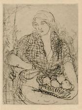 Edmond Aman-Jean original etching