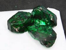 Natural Certified Uncut 88.60 Ct lot Colombia Emerald Dyed Rough Loose Gemstone