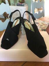 Sophia Webster Nina Black Velvet & Pearl Mid-Sandal UK Size 39.5 US Size 9