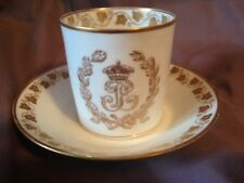 Sevres Cup & Saucer with Louis Philippe Monogram 1846 Chateau de Tuileries