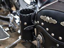 L. ) moto cuir Tasse Verre CAN-BUS Flacon Pochette honda yamaha harley