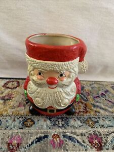 Vintage Christmas Santa Claus Planter