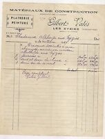 facture  platrerie peinture , les eyzies    1949    c5