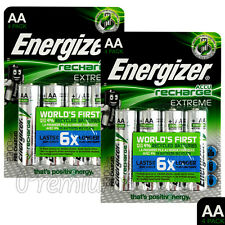 8 x Energizer Rechargeable AA batteries Accu Recharge Extreme NiMH 2300mAh HR6