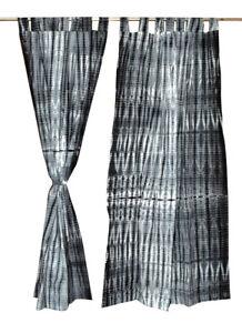 Indian Shibori Curtain Tie & Dye Curtains Room Divider Curtain Window Curtain