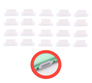 20stk Lade Buchse Staubschutzstecker Stöpsel Silikon Klar für IPHONE 6 7 8 SE 11