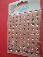 Me to you tiny tatty teddy clear alphabet stamp set, boy collection, pour cartes,
