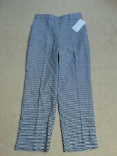 NEW Zara Black white slim casual smart Ankle grazer trousers Size S 8-10 BNWT