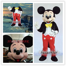 2019【Top Quality】Mickey Mouse Mascot Costume Adult Size Halloween Dress Epe Head