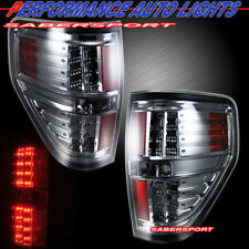 Set of Pair Chrome Smoke LED Taillights for 2009-2014 Ford F-150