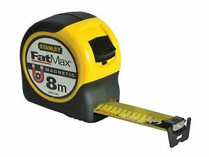 STANLEY 0-33-868 8m FatMax Metric Only Blade Armour Magnetic Tape Measure
