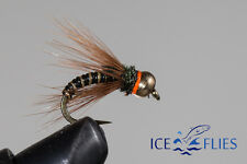 ICE FLIES. Nymph. Frisco BH. pick a size. (4-pack). Available in size 8 - 14
