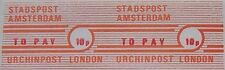 Local (City) Post - Pair 1971 Postal Strike URCHIN Post London imperforated
