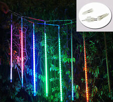 240 LED 8 TUBI Natale pioggia di meteoriti SHOOTING STAR LUCI ALBERO DECOR Outdoor