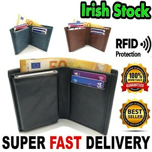 2in1 Wallet Alu RFID Protected Man Men PU Leather Notes Card Holder + GIFT BOX