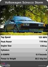 VW Scirocco tormenta Mk2 los triunfos impresión original cartel Ltd Edition Volkswagen único