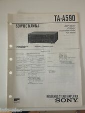 Schema SONY - Service Manual Integrated Stereo Amplifier TA-A590 TAA590