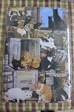 Cats Metal Sign Painted Poster Wall Decor Art Shop Shed Office Workshop Hobby