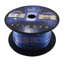Stinger SHW512B Audio Speaker Wire 12 Gauge Cable 100 ft Spool Roll Matte Blue