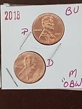 2018 P&D~ LINCOLN~ SHIELD CENT/ PENNY SET (2 COINS) **IN 2X2~ FREE SHIPPING**OBW