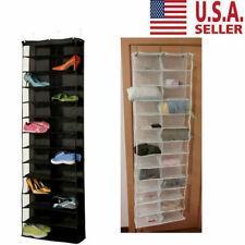 Over The Door Shoe Rack fr 26 Pocket Wall Hanging Closet Organizer Storage Stand
