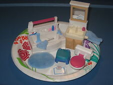 Fisher Price Loving Family dollhouse bathroom set 1999 w/ potty chair and scale