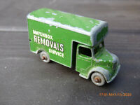 Lesney Matchbox No. 17 Bedford Removal Services Van 1950s Green Diecast Toy Car