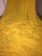 "25 MTR ROLL OF BRIGHT YELLOW 100% POLYESTER LINING FABRIC...45"" WIDE £40"
