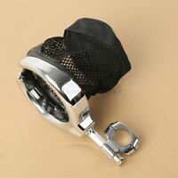 Universal Motorcycle Handlebar Cup Holder Metal Drink W/ Mesh Basket For Harley