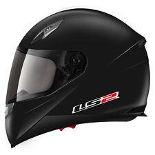 LS2 FF384 Blade Motorcycle Motorbike Helmet, Matt Black, XL