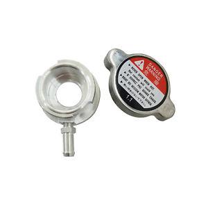 "Aluminum Weld On Filler Neck Radiator 32mm Small Billet  1-1/4"" With Cap Natural"