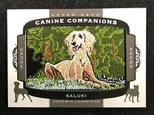 2018 Ud Goodwin Canini Companions Patch Saluki Hound Cc 157 (Bb 4)