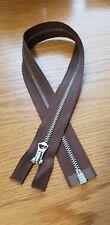 1 × 22'' inch Talon Repro vintage style Nickel jacket Zip-Zipper