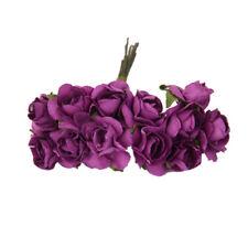 144pcs Purple Paper Rose Flower Wedding Cake Envelopes Gift Card Seal Decor