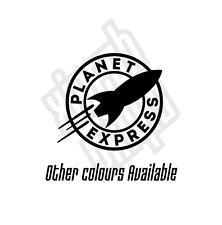 Futurama The Planet Express Ship vinyl sticker decal car ipad (window optional)