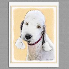 6 Bedlington Terrier Dog Blank Art Note Greeting Cards