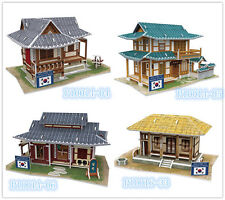 Korea House 3D Puzzles Childs Boys Girls Mold Paper DIY Educational Toys