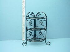 Dollhouse Miniature Wrought Iron Corner What Not Stand H120 Bright Delights 1/12
