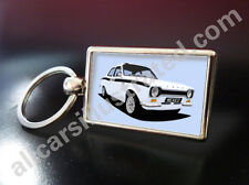 FORD ESCORT MEXICO MK1 METAL KEY RING. CHOOSE YOUR CAR COLOUR.