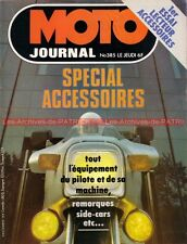 MOTO JOURNAL  385 Spécial accesoires ; Side Car ; Brands Hatch Marc FONTAN 1978