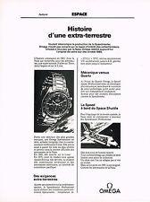 PUBLICITE ADVERTISING   1981   OMEGA   histoire d'une extra-terrestre