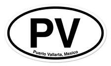 "PV Puerto Vallarta Mexico Oval car window bumper sticker decal 5"" x 3"""