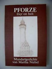 Pforze frier on heit Mundartgedichte 1986 Pforzheim