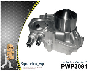 Water Pump PWP3091 fits SUBARU Liberty BD9 (with three outlets) 2.5LEJ25 96 on