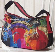 Laurel Burch Wild Horses Fire Med Hobo Tote Bag Arabian Peruvian Paint NEW